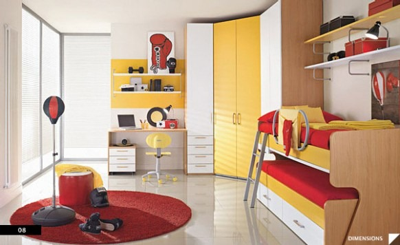 Boxing-theme-Bedroom-582x356