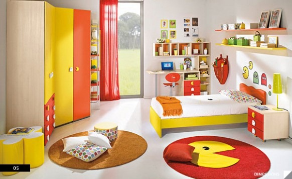 Pac-Man-Bedroom-582x356