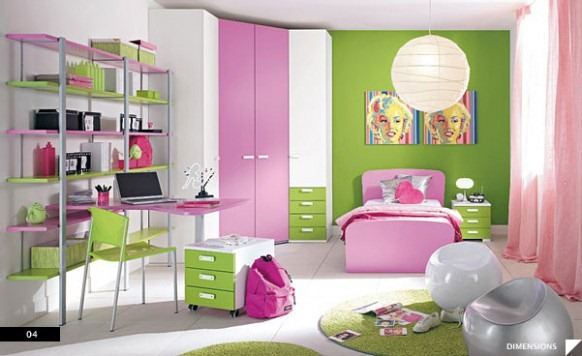 Pretty-in-Pink-Teen-Bedroom-582x356