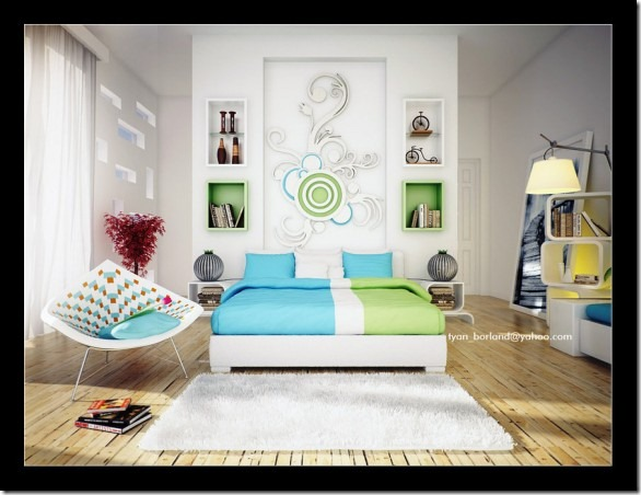 Blue-Green-bedroom-by-qtinkdesign-582x448