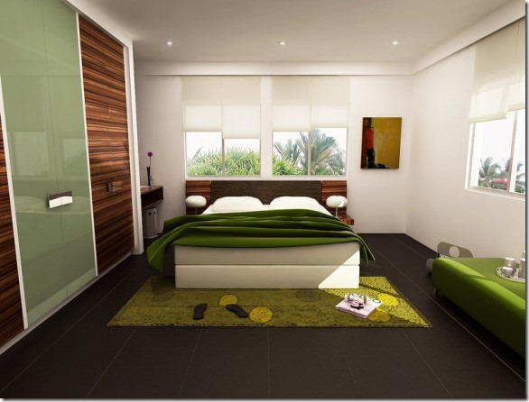 fresh-greeny-bedroom-by-3Dskaper-582x442