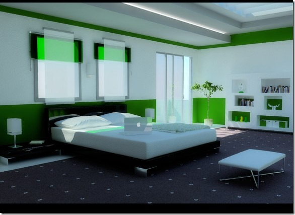 Modern-Green-Bedroom-582x423