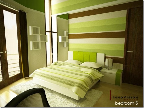 warm-Green-bedroom-by-RyoSakaZaQ-582x436