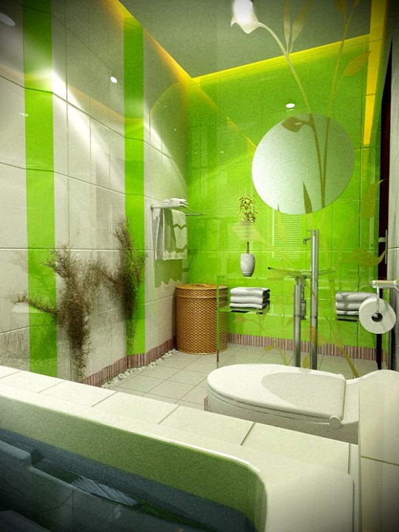 Green-and-White-bath-by-4bedDesign-582x776
